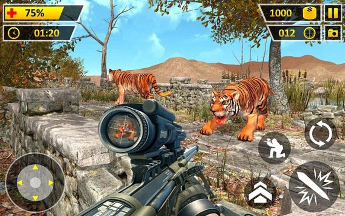 成为一个野生动物枪森林拍摄3d;进入3d愤怒的狮子丛林亚军狩猎或 杀死