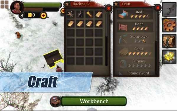 冬季岛3D(Winter Island CRAFTING GAME 3D)是一款将背景设置在寒冬酷暑的生存类冒险手机游戏,这款游戏中的生存环境十分的残酷,想要在这里生存下来那就要看你的本事哦! 你在游戏中将身处于一个陌生的小岛上,这里的温度极为寒冷,你身边没有任何的工具,你需要寻找木材来生火求生,随之而来的还有来自饥饿、食肉动物、孤寂等等的可怕难关。在这座小岛之上,努力生存下来吧!感兴趣的玩家快来下载游戏挑战看看吧! 冬季岛3D游戏特色 1、在最寒冷的孤岛体验最极致的生存之旅! 2、自由的探索多样的物品收