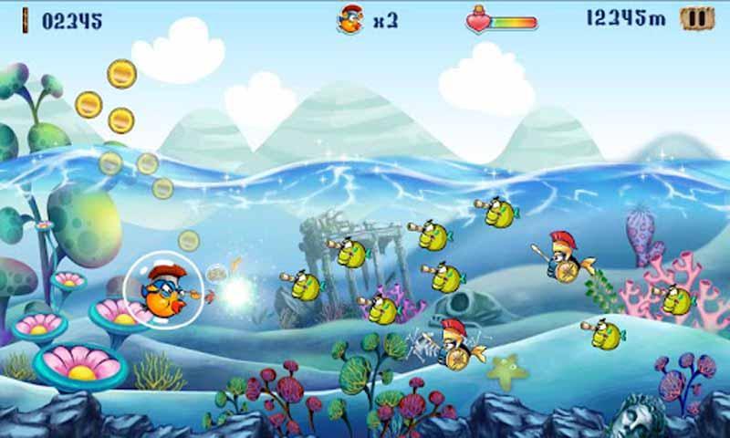 控制你的odybird与各种各样的海底动物对战,并制服他们吧!